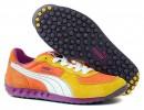 Ladies PUMA Orange Suede Trainers Size 4.5 (37.5)