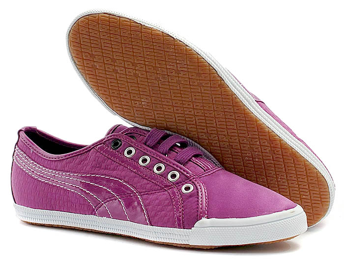 Ladies PUMA Purple Canvas Trainers Size 4.5 (37.5)