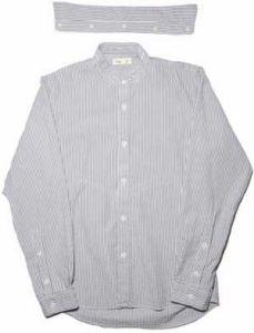 Folk Slim Shirt Slate Stripe Size 3