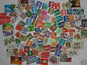 Lote 100 sellos GRAN BRETAÑA