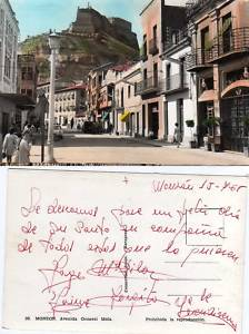 POSTAL DE MONZÓN (HUESCA), AV. GENRAL MOLA, AÑO 1965