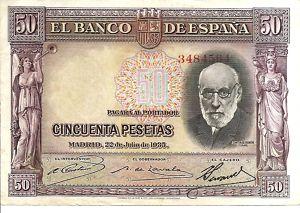50 Pesetas 1935 Madrid  Ramon y Cajal MBC