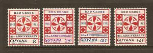 RED CROSS GUYANA 1973  MNH