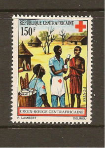 RED CROSS CENTRAL AFRICA 1972  MNH