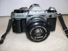 VINTAGE CANON AE-1 PROGRAM SLR CAMERA AND INSTRUCTIONS
