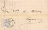 Carta. ESTELLA (Navarra) a vergara 1880.