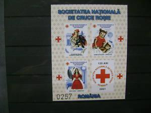 Briefmake aus Rumänien,Bl.Rotes Kreuz,postfrisch