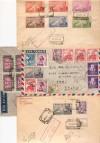 SPAGNA, Lotto 1945/46 - buste affrancate, nn. 35 pezzi