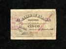 ESP::MAGNIFICO Y RARISIMO BILLETE 5 PESETAS 1936 SANTANDER !