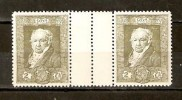 SPAIN 1930 2c GUTTER PAIR GOUA MNH