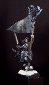 Pro painted gaming model  - Woodelf Standard Bearer