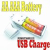 USB Charger Recharge AA AAA Ni-MH Rechargeable Battery