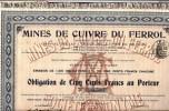 Mines de Cuivre du FERROL (ESPAGNE 1913)