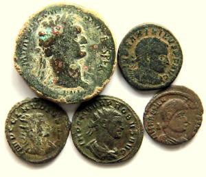 A36 Lote 5 monedas ROMA A IDENTIFICAR