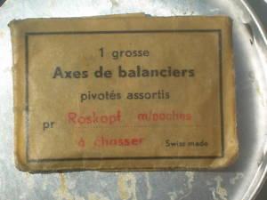 RELOJ ANTIGUO  REPUESTOS EXES DE BALANCIERS ROSKOPF