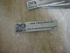 PLACA DE 20 ANIVERSARIO DE EXIN