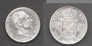 20 CENTAVOS DE PLATA ALFONSO XII