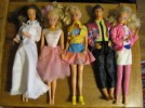 LOT of 5 DOLLS - 4 BARBIE DOLLS & KEN  -  NO RESERVE