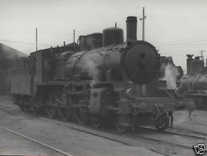 B/W Photograph  RENFE Spanish Steam Loco 230 2130 1963