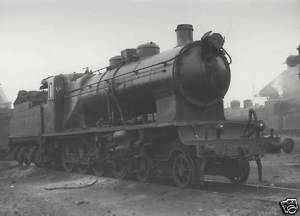 B/W Photograph  RENFE Spanish Steam Loco 240 4020 1963