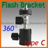 Flash Shoe Umbrella Holder Swivel Light Stand Bracket C