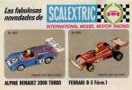 SCALEXTRIC EXIN FOLLETO NOVEDADES AÑO 76/77