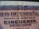 50 PTS 17 MAYO 1927 SELLO EN SECO ESTADO ESPAÑOL BURGOS