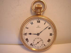 POCKET WATCH OLD WATCH OMEGA WATCH GOLD WATCH OMEGA