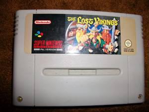 Super Nintendo Game The Lost Vikings Rare
