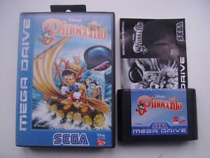 Sega Megadrive DISNEYS PINOCCHIO Game