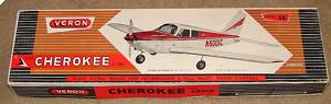 Vintage VERON Cherokee C. 180 R/C Model Airplane Kit