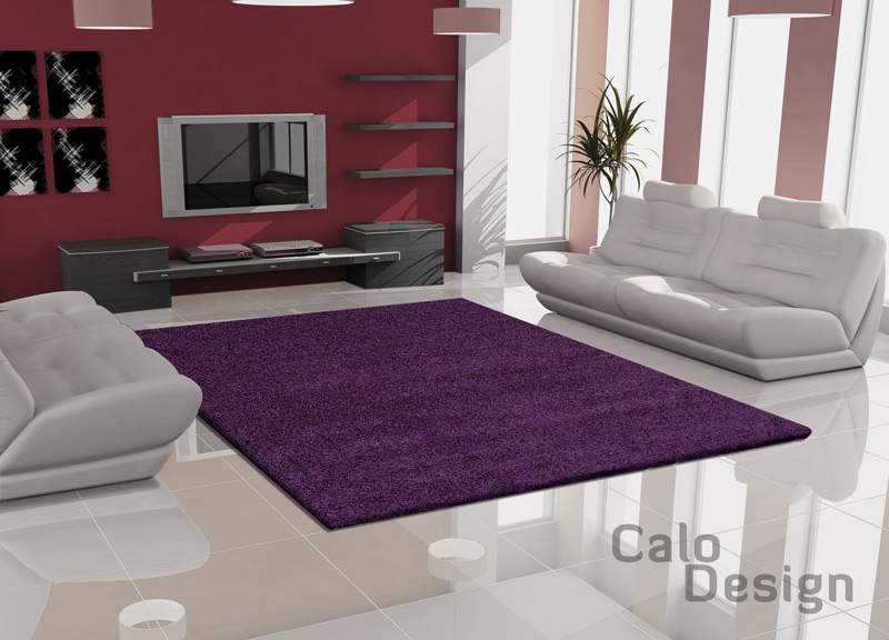 hochflor teppich violet lila 160x230cm eur pujas. Black Bedroom Furniture Sets. Home Design Ideas