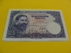 BILLETE DE 25 pesetas ISAAC ALBENIZ
