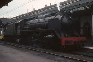 ORIGINAL SLIDE 1974 RENFE Spain/Espana Steam 2-8-2;2108