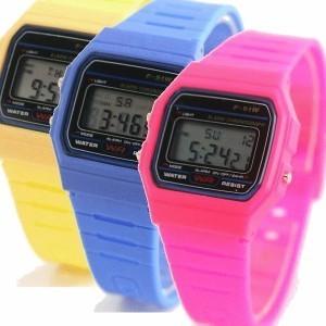 Reloj retro de colores estilo Sara Carbonero
