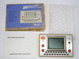 vintage HANDHELD ELECTRONIC GAME and WATCH SHUTTLE SHIP