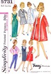 VINTAGE 1964 TRESSY BARBIE DOLL CLOTHES PATTERN 5731