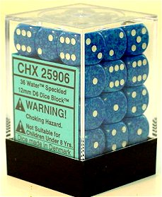 Warhammer Dice Chessex 36 Speckled Water 12mm D6
