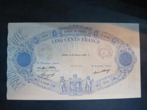 FRANCE   500  FRANCS  1933  RARE  XF++   NO1984