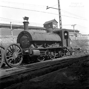 Railway Negative: RENFE Spain 0-6-0ST 030.0231 Miranda