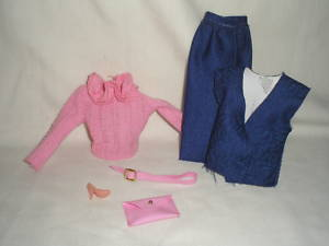 Vintage Barbie 1985 #2300 Twice As Nice Outfit