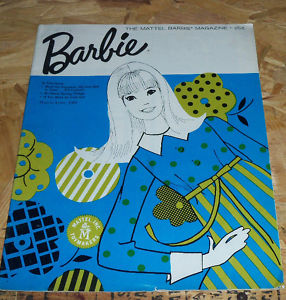 1966 Barbie Mattel Magazine March - April Vintage