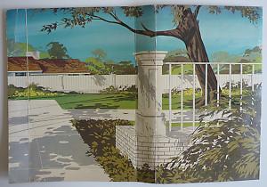 BARBIE - BACKDROP FOR GO-TOGETHER SWING SET - 1964