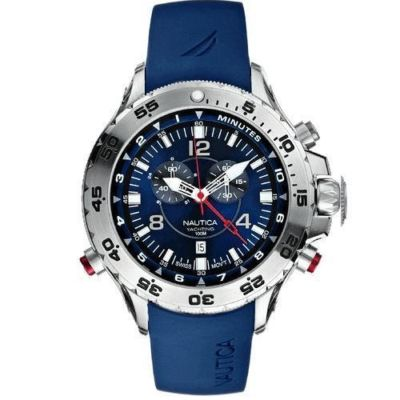 NAUTICA BLUE RUBBER CHRONOGRAPH YACHTING WATCH A31504G
