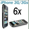 6x Clear Screen Protector Film Cover For iPhone 3G 3Gs