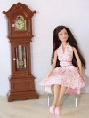 clock only   ooak by BJ silkstone barbie FR furniture