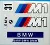 BMW M1 DECORACION PEQUEÑA ADHESIVOS EXIN SCALEXTRIC