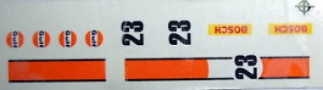 PORSCHE 917 LINEA NARANJA CALCAS EXIN SCALEXTRIC