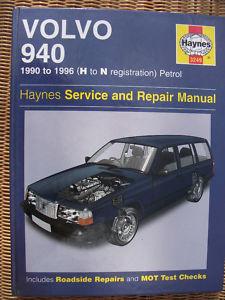 HAYNES MANUAL: VOLVO 940 - 1990 - 1996