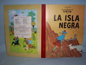 Tintin Herge Isla Negra Edicio Especial 1986 Lomo Tela